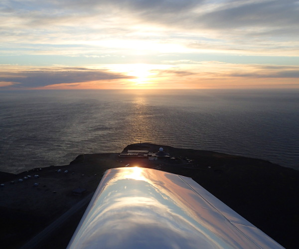 Flying around the north cape
